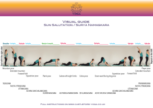 get your cardio ongreeting the sun with yoga sun